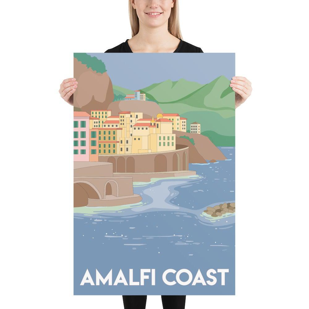Amalfi Coast Italian Travel Poster-Posters-Flash of Culture