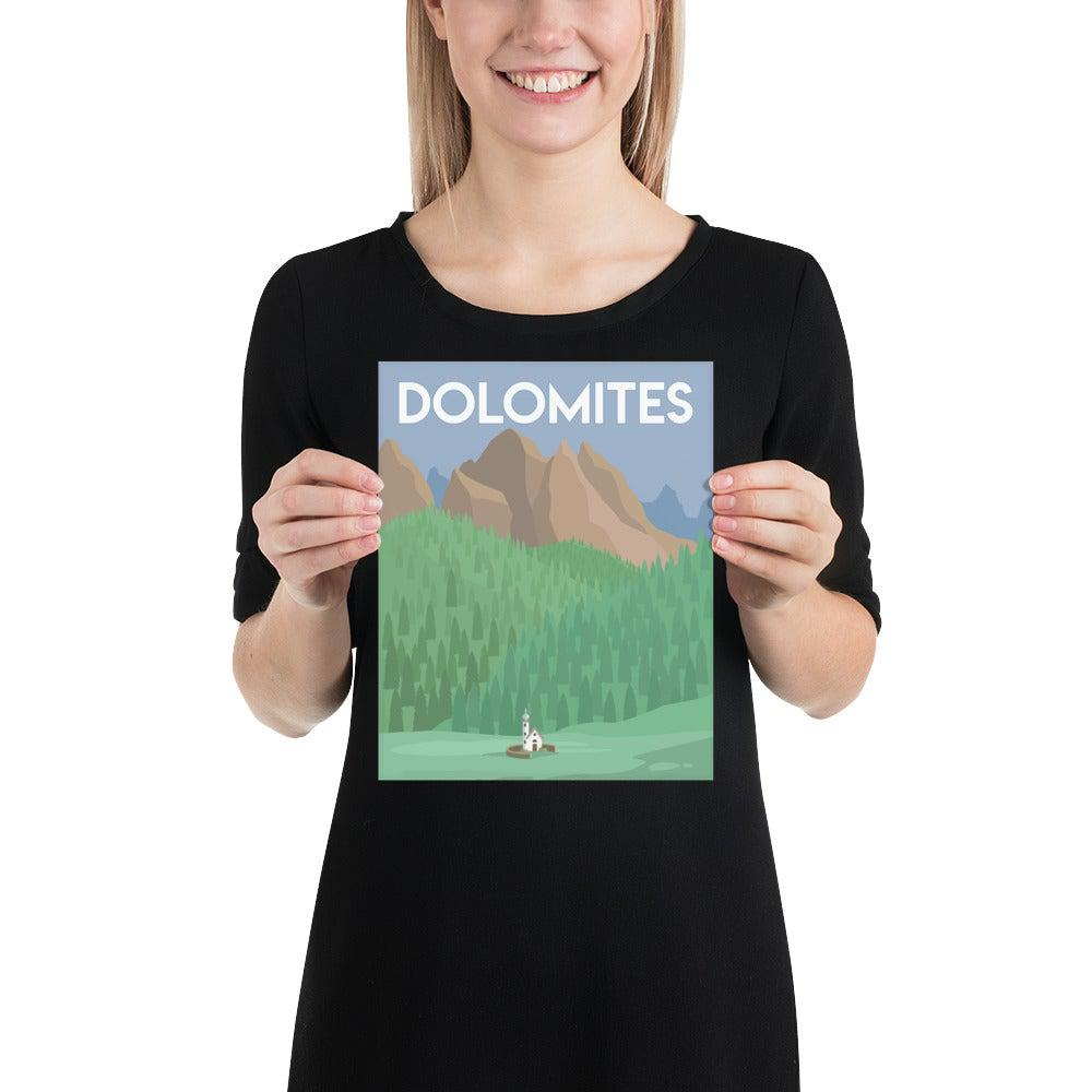 Italian Dolomites Poster-Posters-Flash of Culture