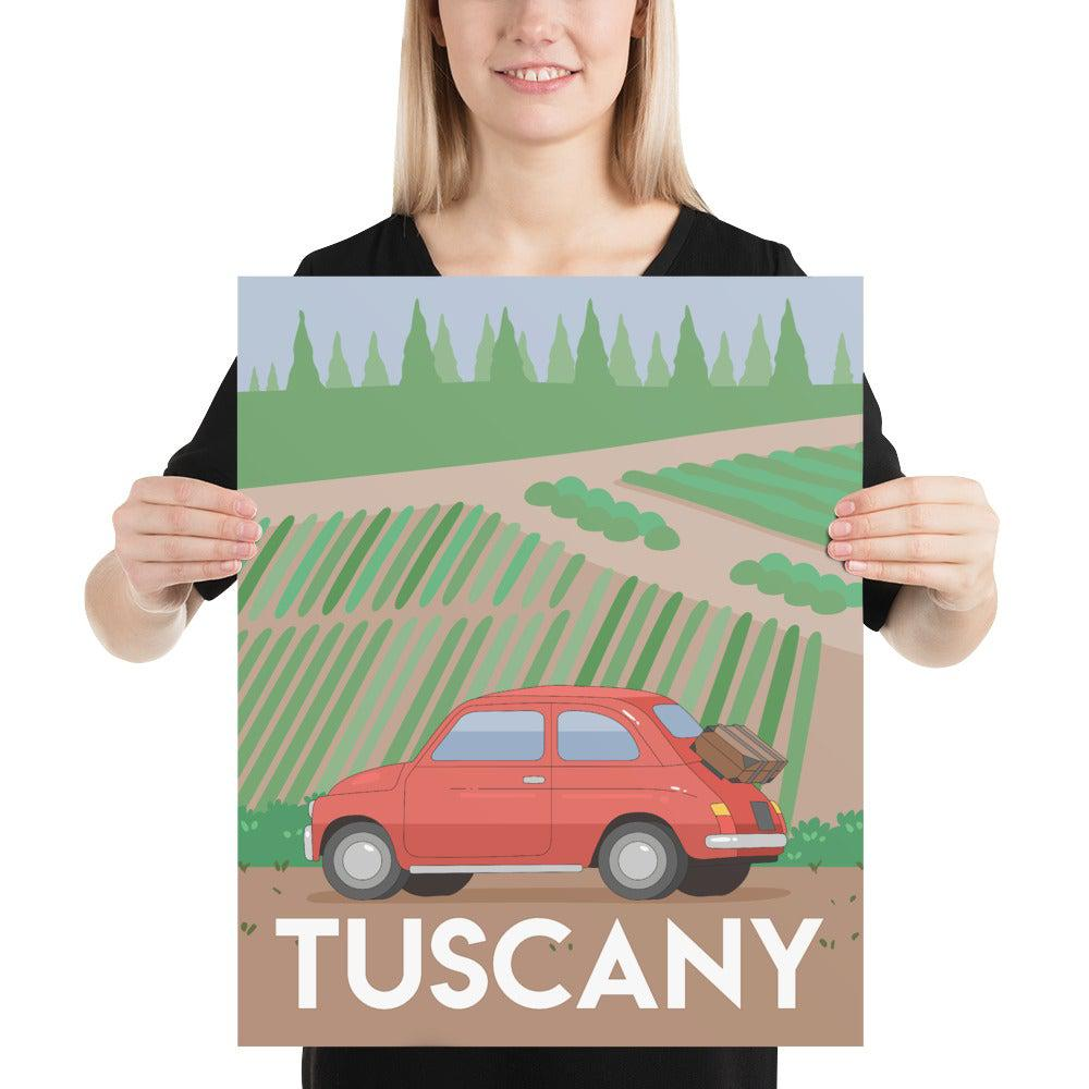 Tuscany Italy poster, Tuscany travel prints-Posters-Flash of Culture