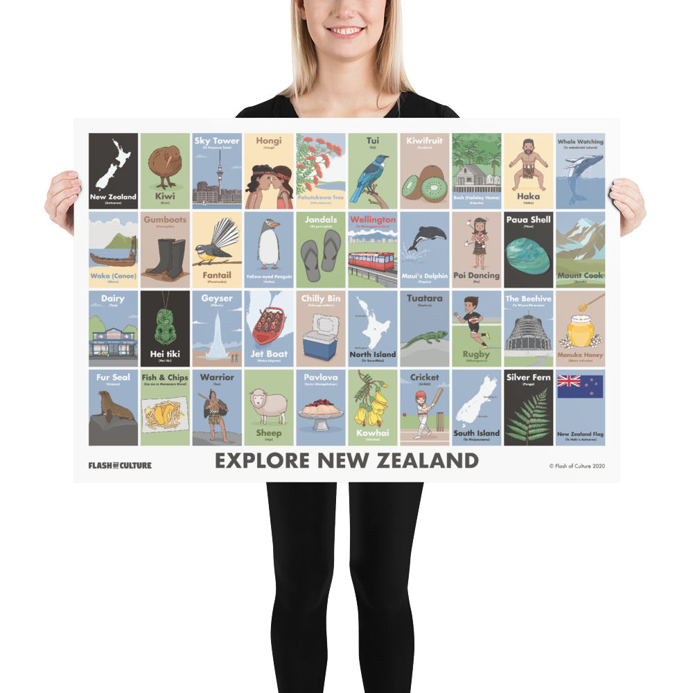 New Zealand Poster of Culture Landscape-Posters-Flash of Culture™