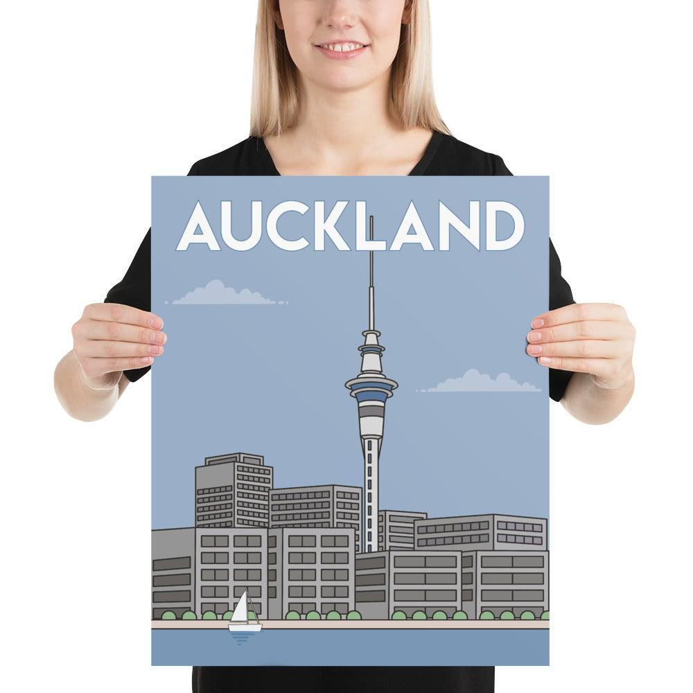 Auckland, New Zealand Poster Art-Posters-Flash of Culture