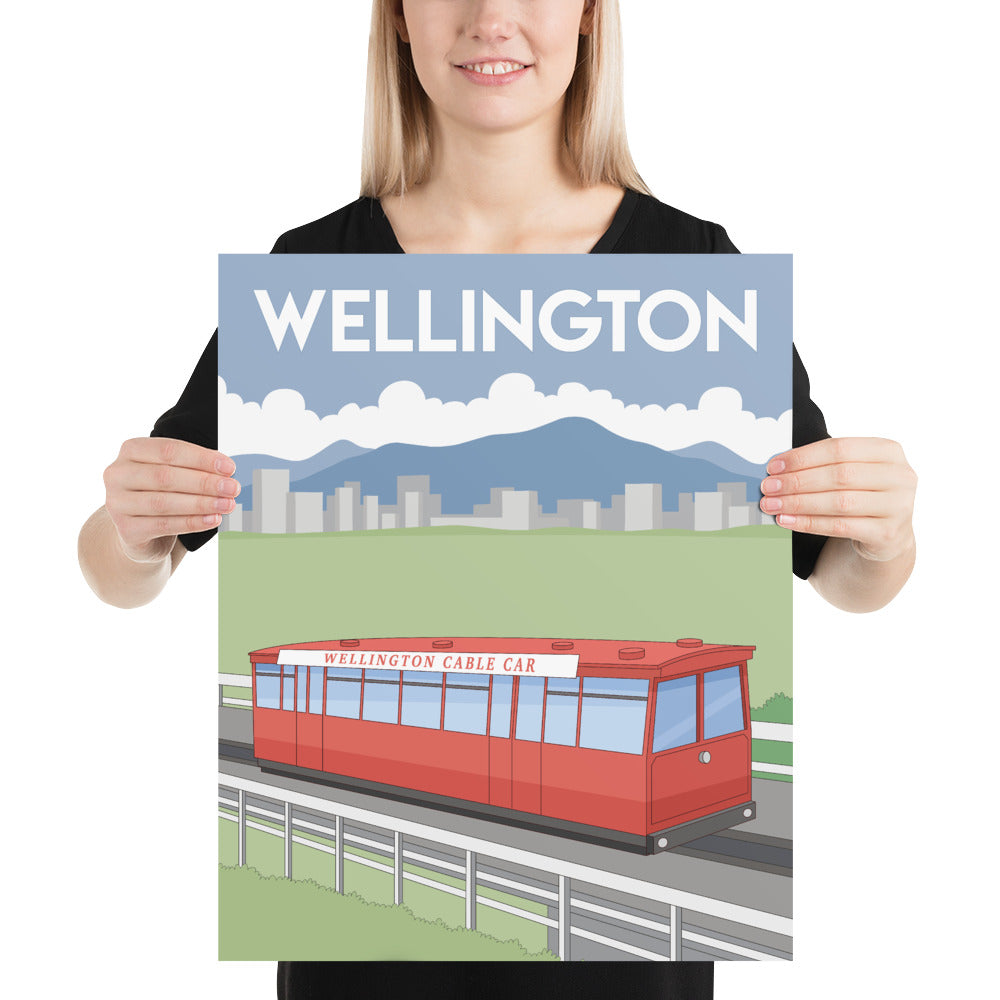 Wellington, New Zealand Poster Art-Posters-Flash of Culture