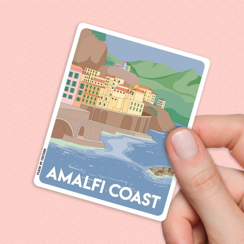 Amalfi Coast Italy Sticker, Amalfi Coast stickers, Positano Italy-Stickers-Flash of Culture™