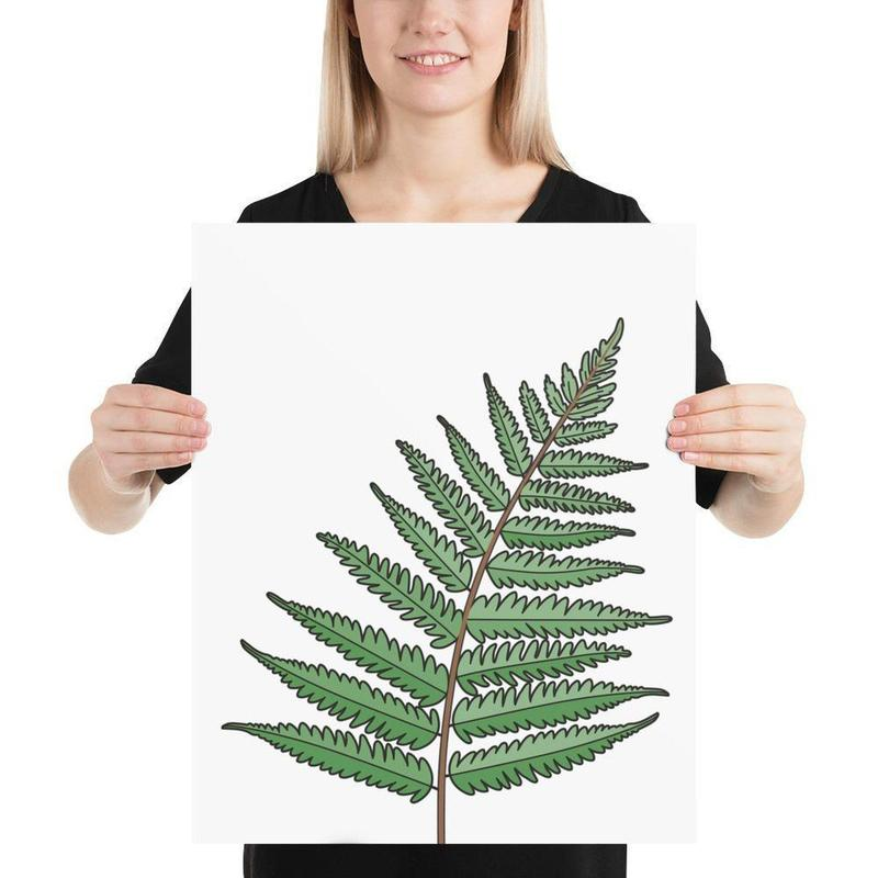 Aotearoa New Zealand Fern White Poster Art-Posters-Flash of Culture™