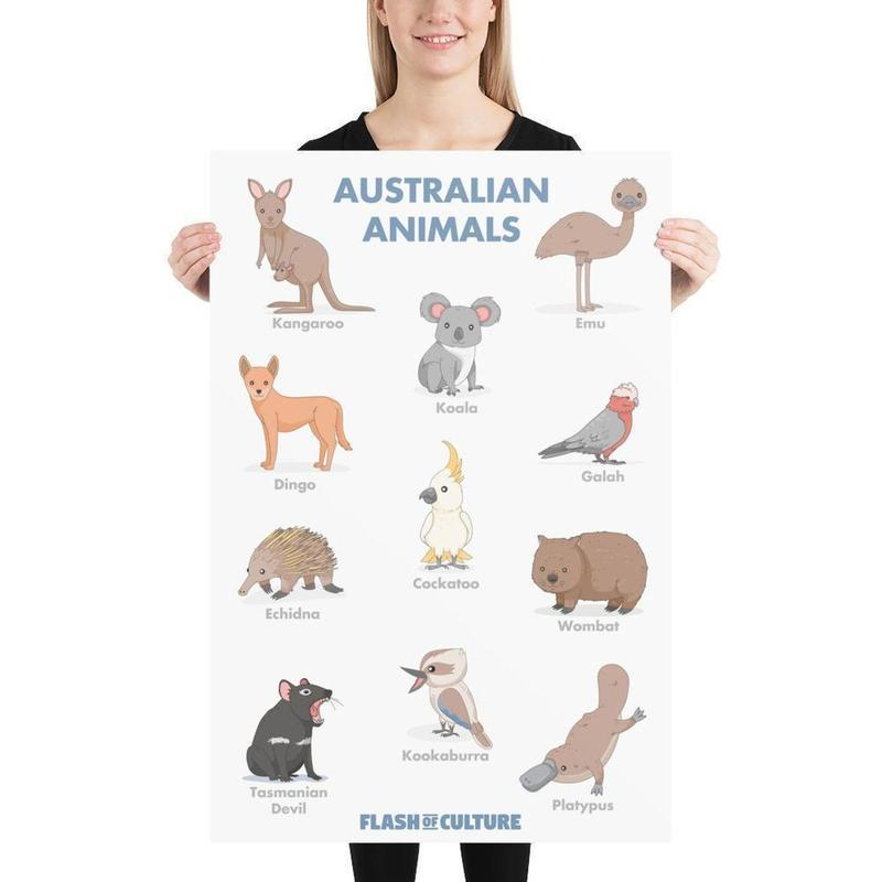 Australian Animals Poster Art-Posters-Flash of Culture™