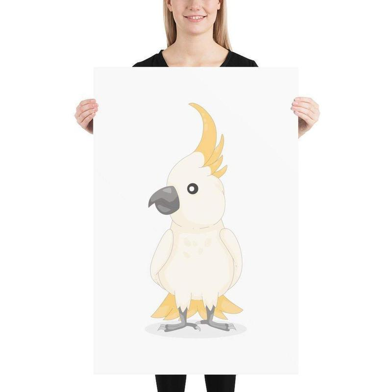 Australian Cockatoo Print-Posters-Flash of Culture™