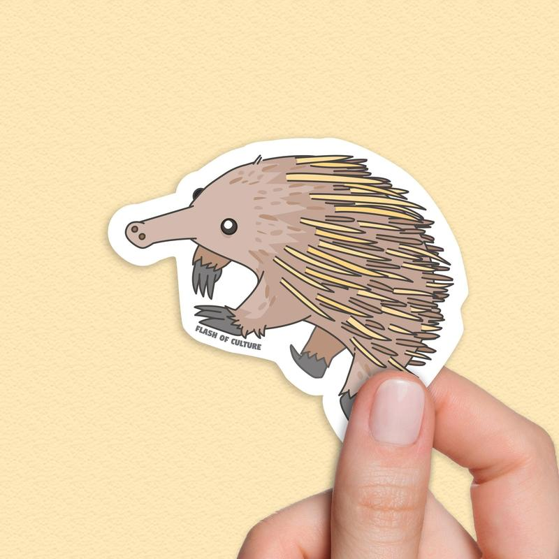 Australian echidna sticker, echidna art-Stickers-Flash of Culture™