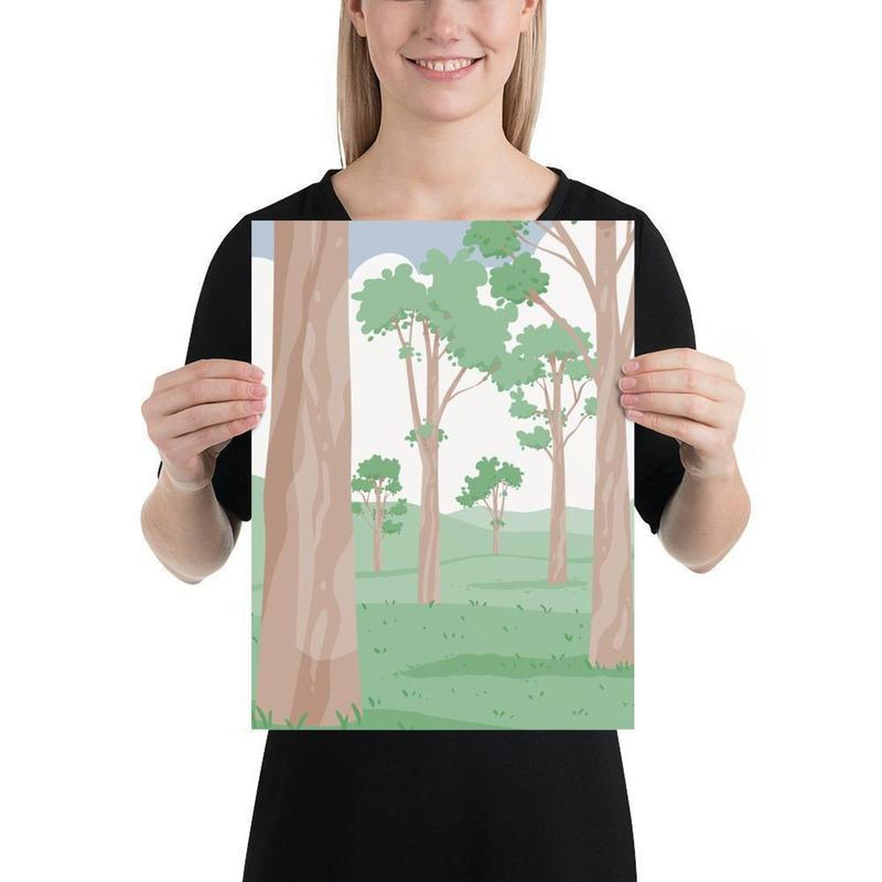 Australian Gumtrees Poster Art-Posters-Flash of Culture™