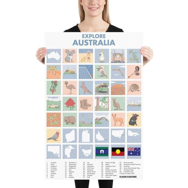 Australian Icons Poster-Posters-Flash of Culture™