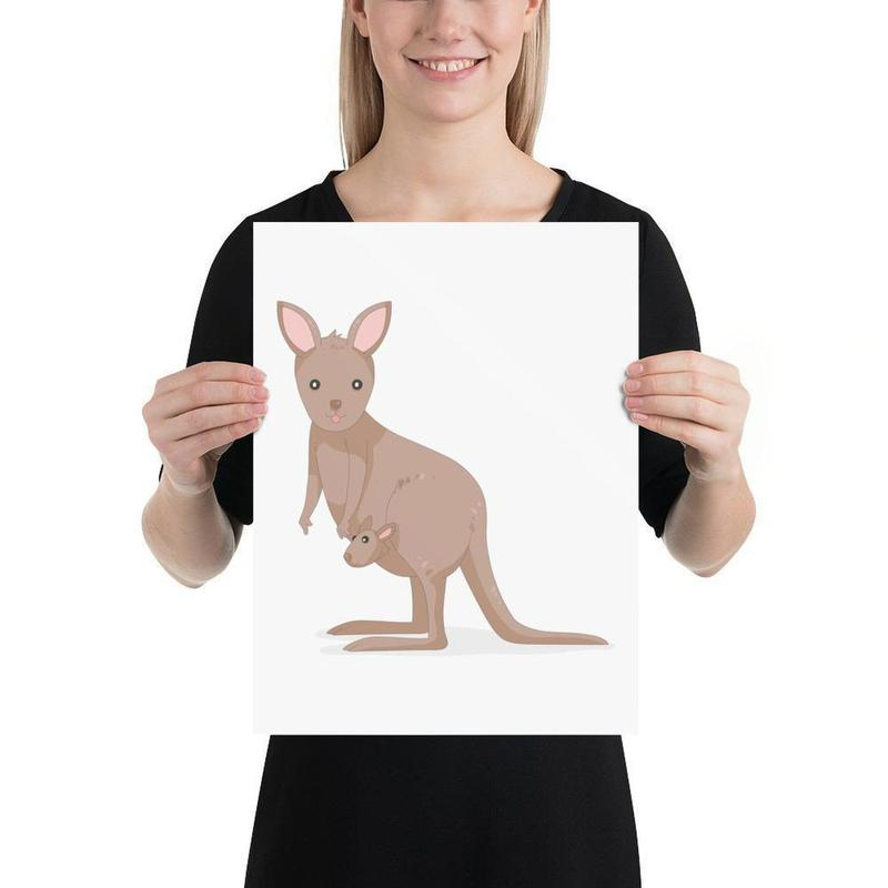 Australian Kangaroo Print-Posters-Flash of Culture™