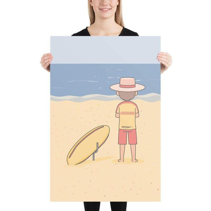 Australian Lifeguard Poster-Posters-Flash of Culture™