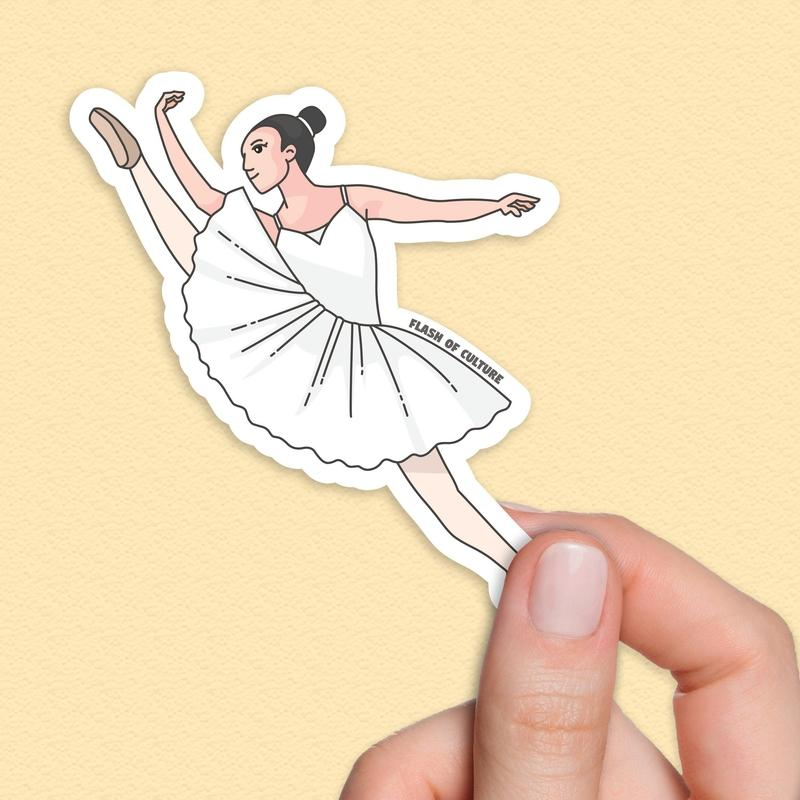 Ballerina sticker, Ballerinas, Dancer sticker-Stickers-Flash of Culture™