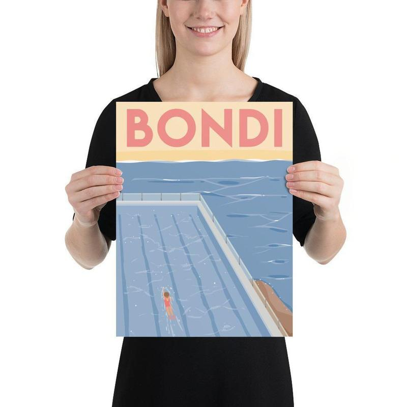 Bondi Beach Travel Poster-Posters-Flash of Culture™