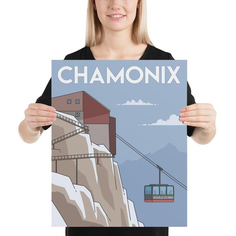 Chamonix, Mount Blanc, France Poster Art-Posters-Flash of Culture™