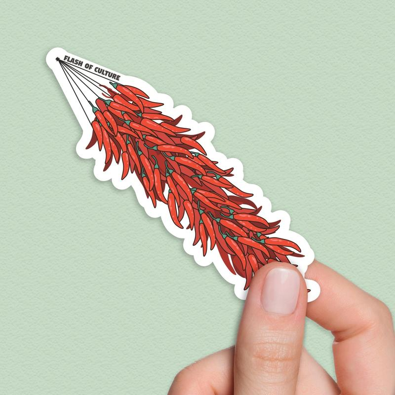 Chilli Peppers Sticker, Peperoncino stickers-Stickers-Flash of Culture™