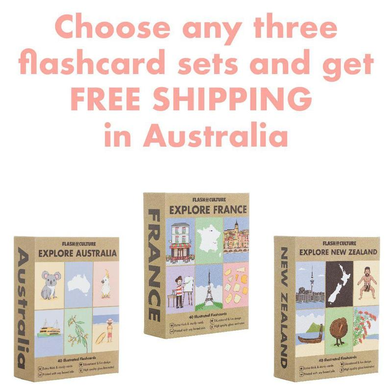 Choose any three Explore Flashcard sets and get FREE AUSTRALIAN SHIPPING-Flashcards-Flash of Culture™