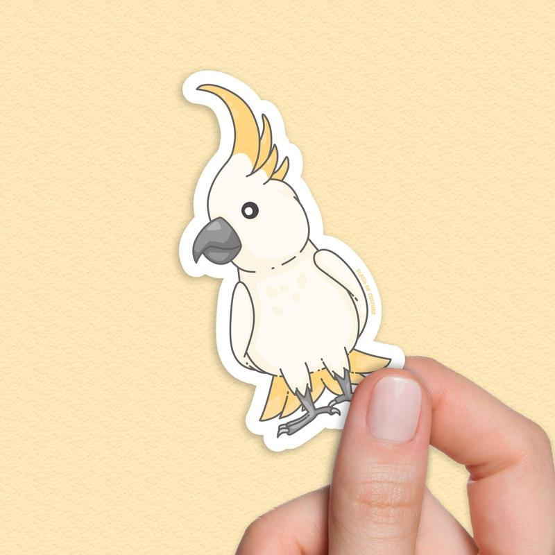 Cockatoo sticker, Australian bird stickers-Stickers-Flash of Culture™