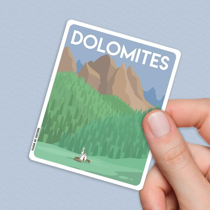 Dolomites Italy Sticker, Dolomites stickers-Stickers-Flash of Culture™