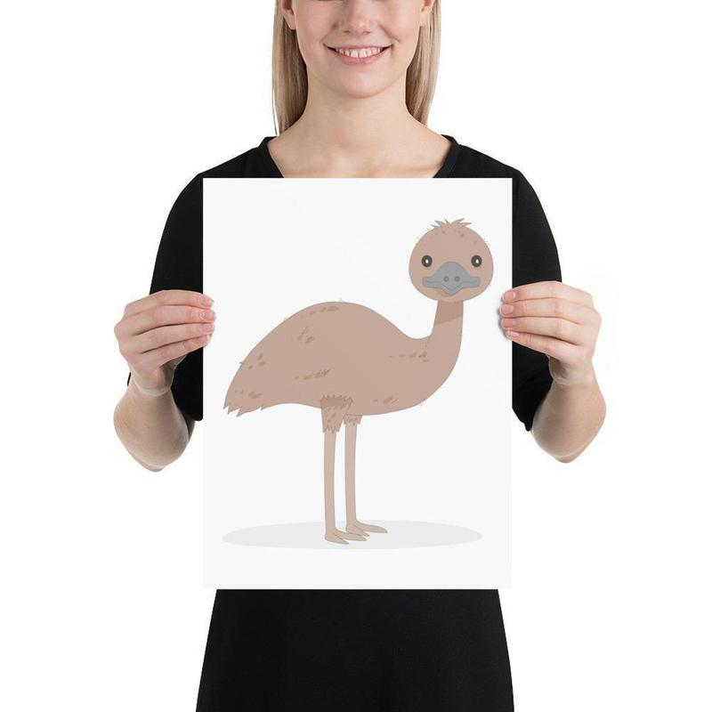 Emu Poster Art-Posters-Flash of Culture™