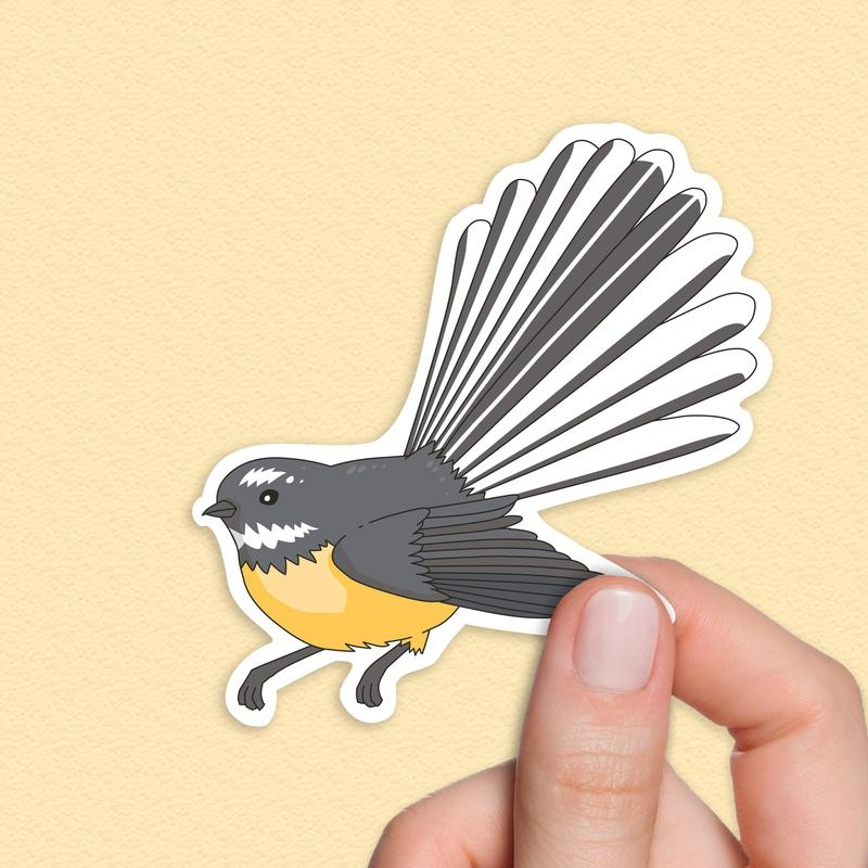 Fantail Bird sticker, New Zealand Stickers-Stickers-Flash of Culture™
