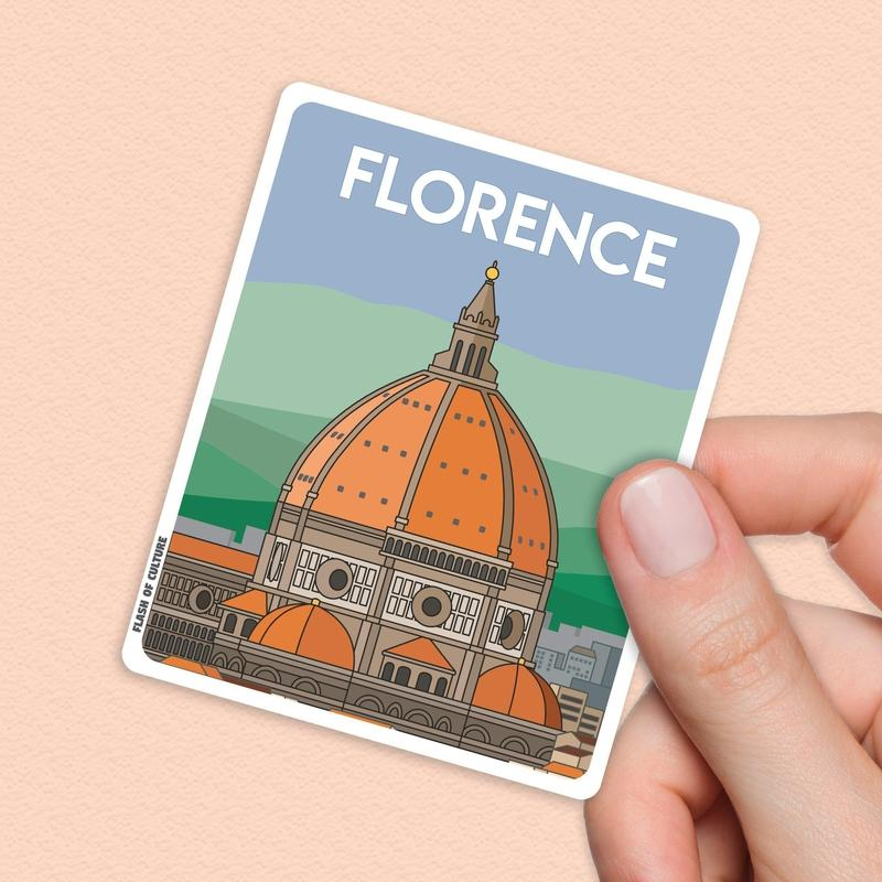 Florence Italy Sticker, Florence stickers-Stickers-Flash of Culture™
