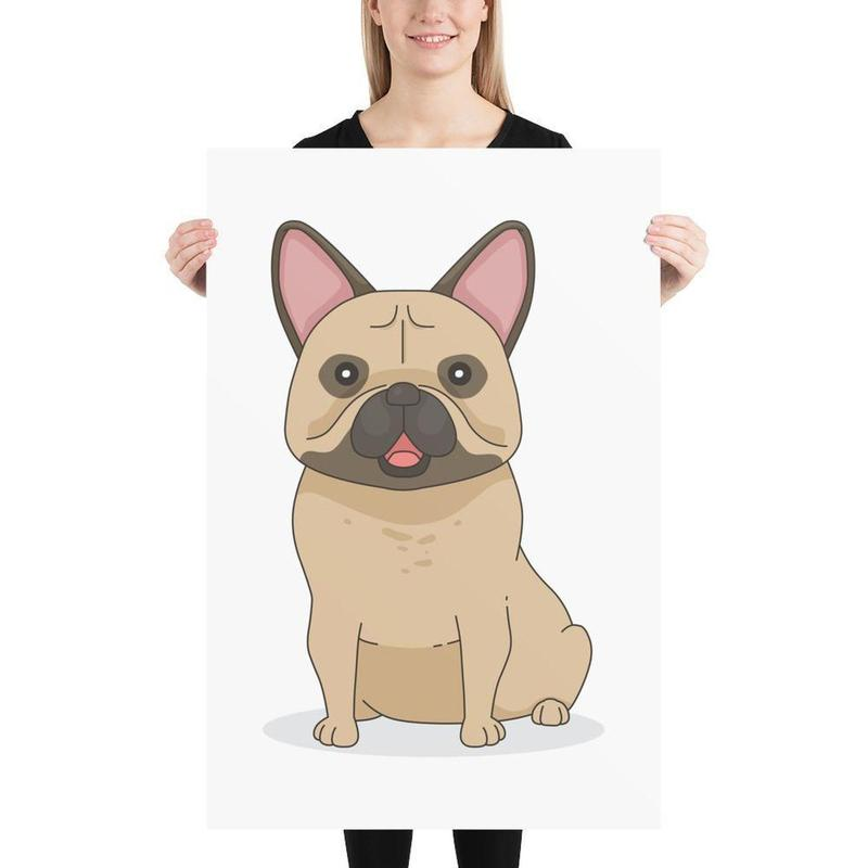 French Bulldog Poster Art-Posters-Flash of Culture™