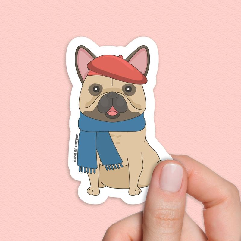 French bulldog sticker, dog stickers-Stickers-Flash of Culture™