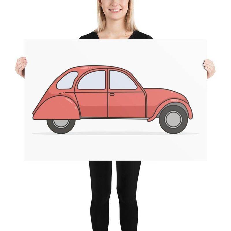 French Citroen Print-Posters-Flash of Culture™