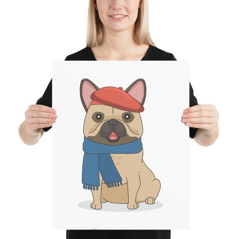 French Frenchie Art Poster-Posters-Flash of Culture™
