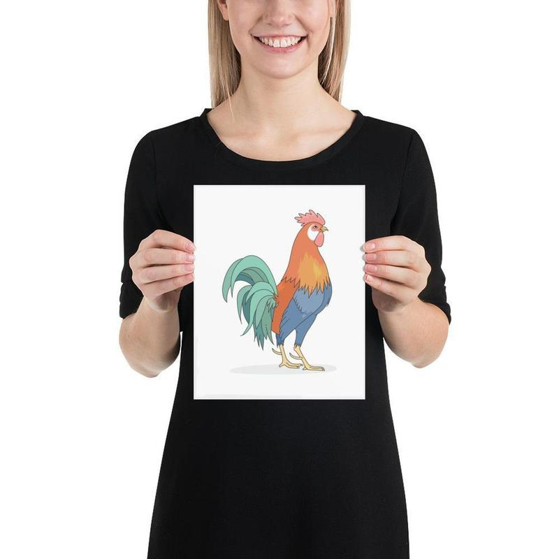 French Gallic Rooster Poster Art-Posters-Flash of Culture™