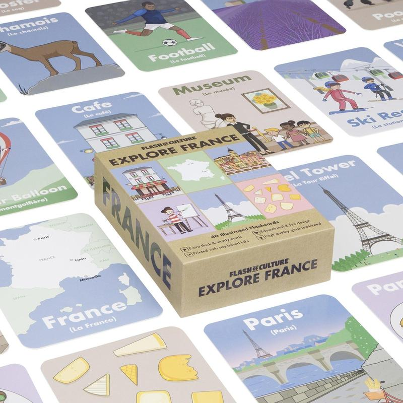 French Themed Flashcards - Explore France Flashcards-Flashcards-Flash of Culture™