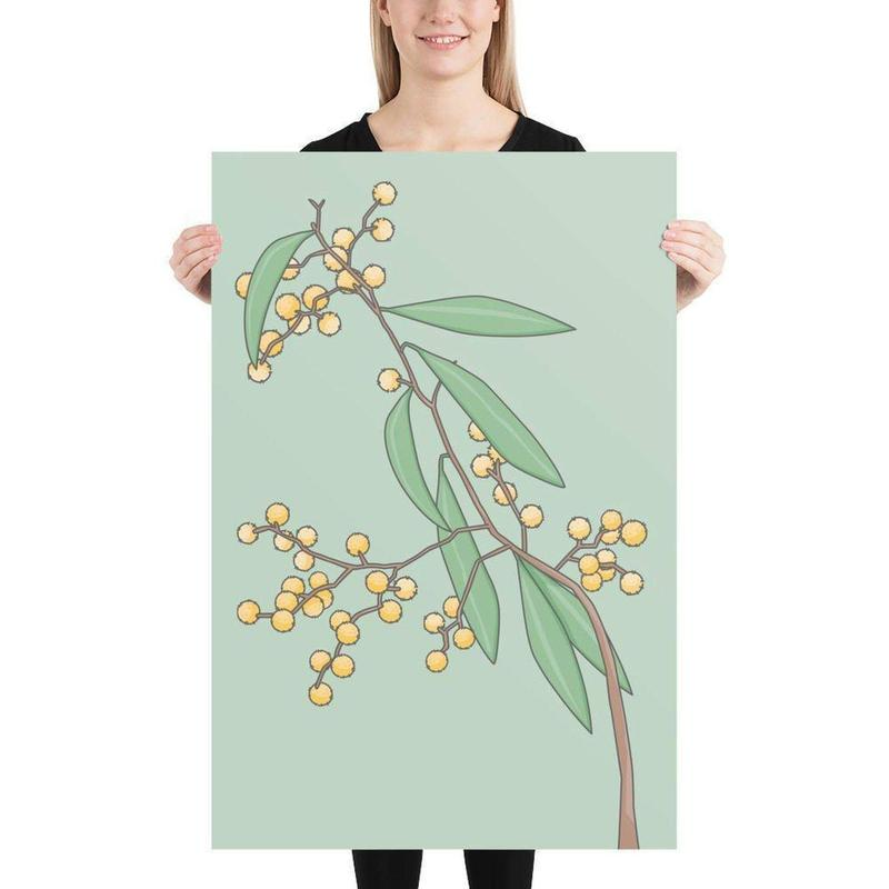 Golden Wattle Art Print-Posters-Flash of Culture™