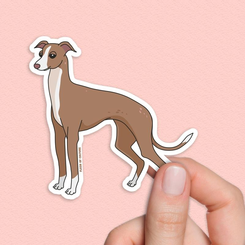 Italian greyhound sticker-Stickers-Flash of Culture™