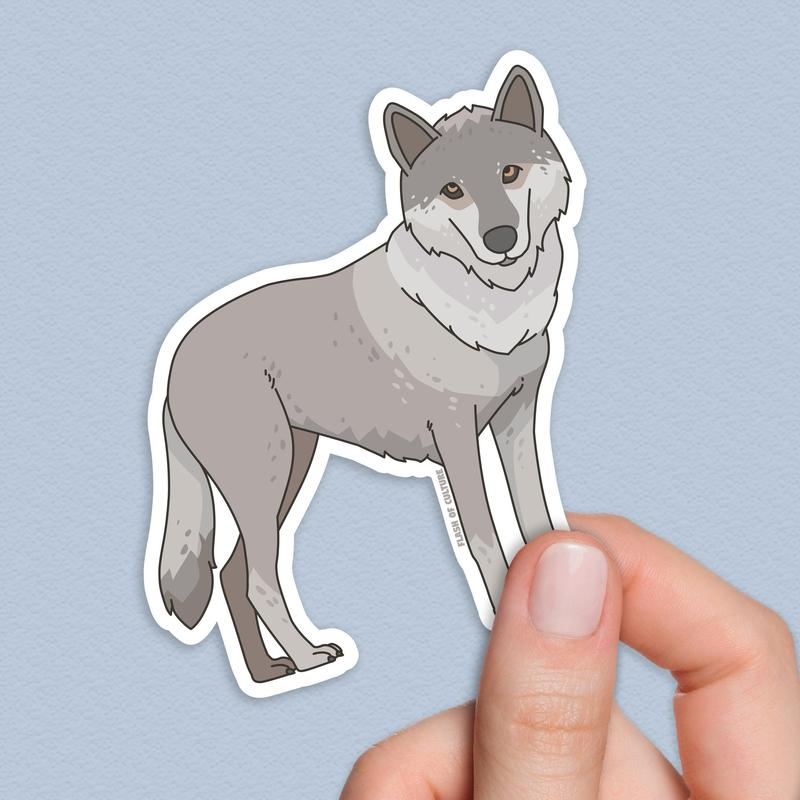 Italian wolf sticker-Stickers-Flash of Culture™