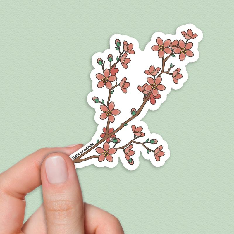 Japanese cherry blossom sticker - blossom sticker-Stickers-Flash of Culture™