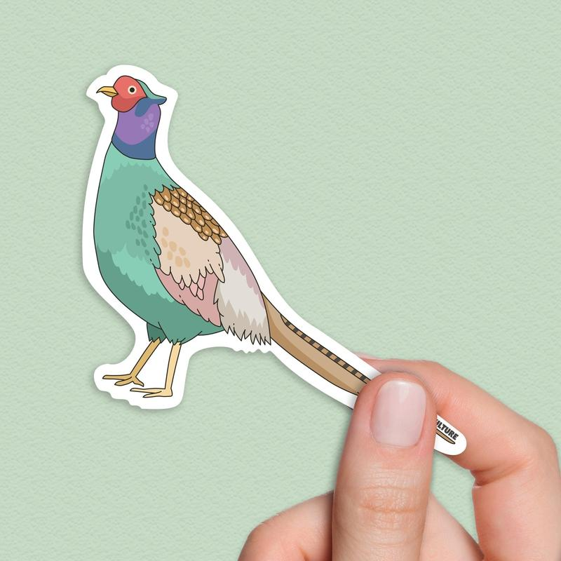 Japanese Green Pheasant Sticker-Stickers-Flash of Culture™