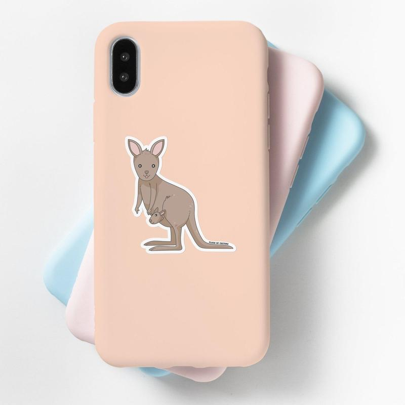 Kangaroo Sticker - High Quality Vinyl Sticker-Stickers-Flash of Culture™
