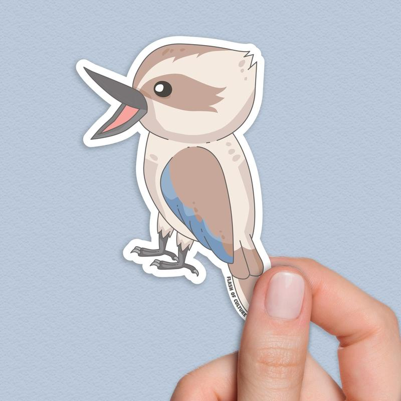 Kookaburra Sticker, Australian native bird stickers-Stickers-Flash of Culture™