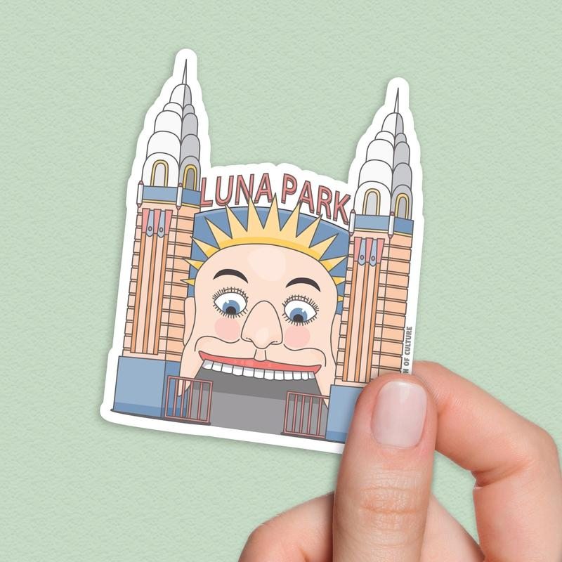 Luna Park Sticker, Sydney Australia sticker-Stickers-Flash of Culture™