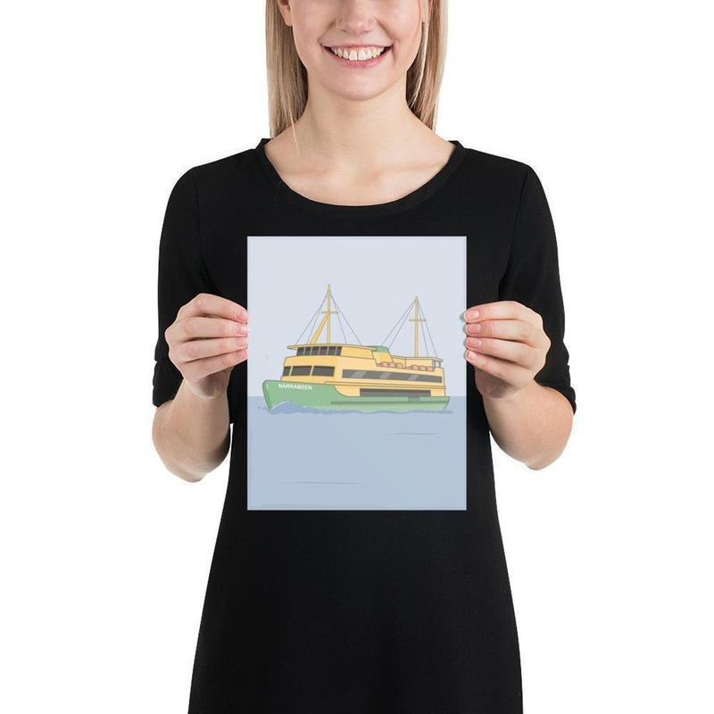 Manly Ferry Poster-Posters-Flash of Culture™