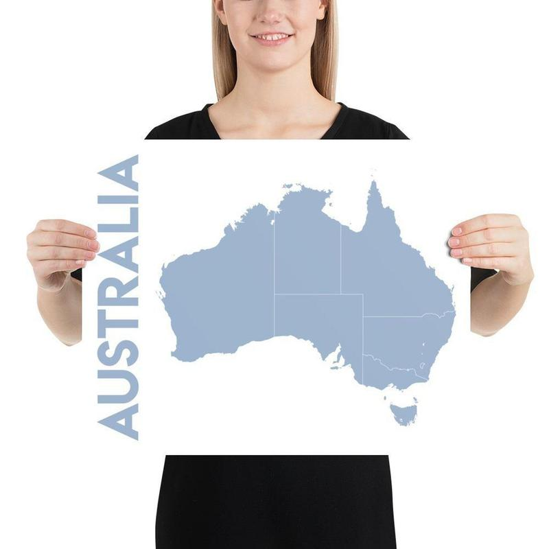 Map of Australia Poster Horizontal-Posters-Flash of Culture™