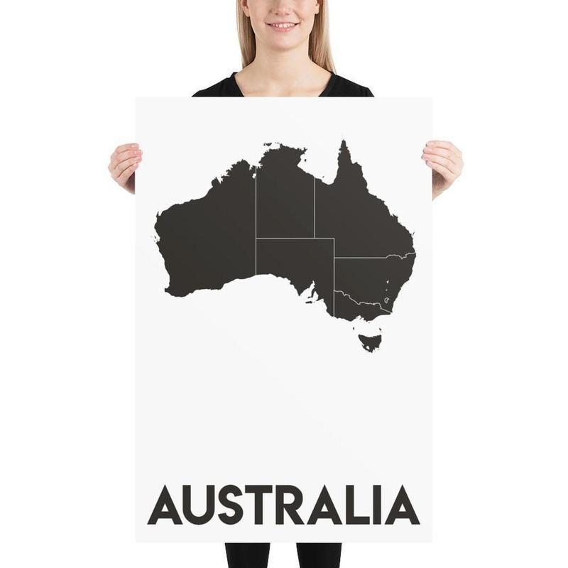 Map of Australia Poster Vertical-Posters-Flash of Culture™