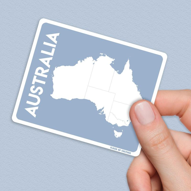 Map of Australia Sticker, Australian stickers-Stickers-Flash of Culture™