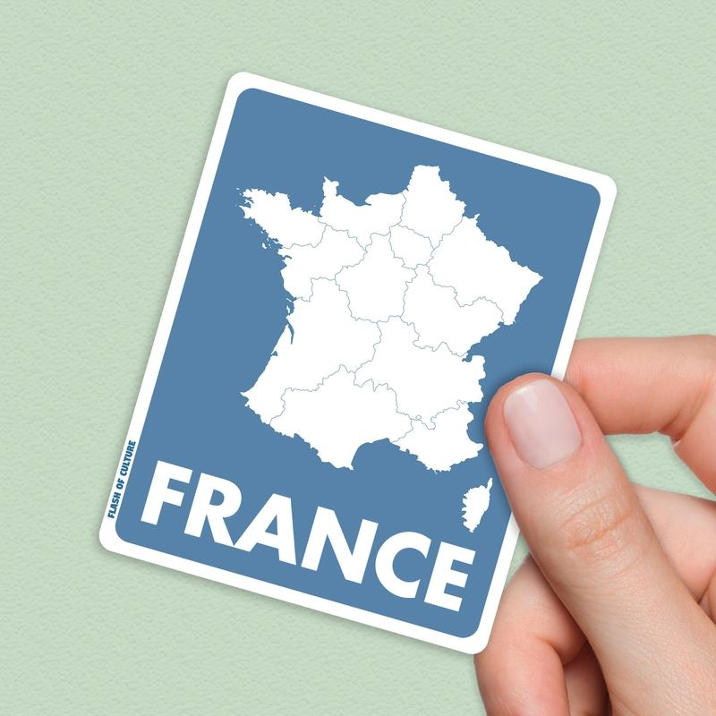 Map of France Sticker- French Stickers-Stickers-Flash of Culture™