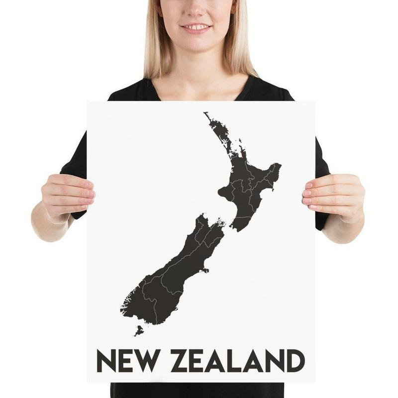 Map of New Zealand Poster-Posters-Flash of Culture™