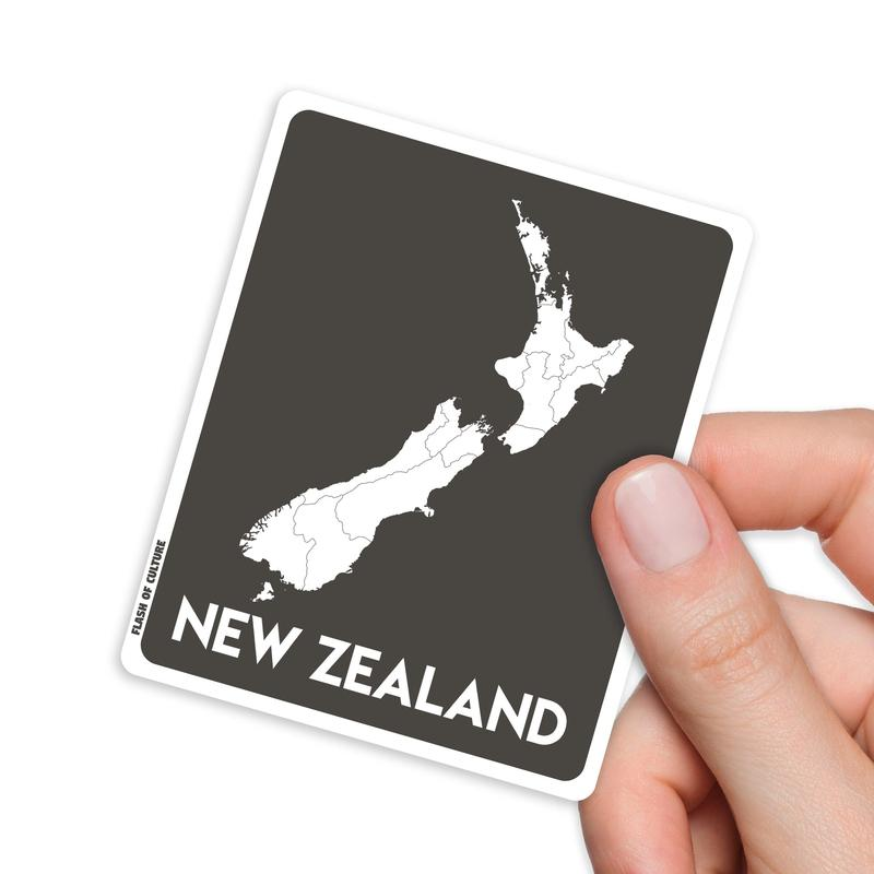 Map of New Zealand Sticker, Kiwiana Stickers-Stickers-Flash of Culture™