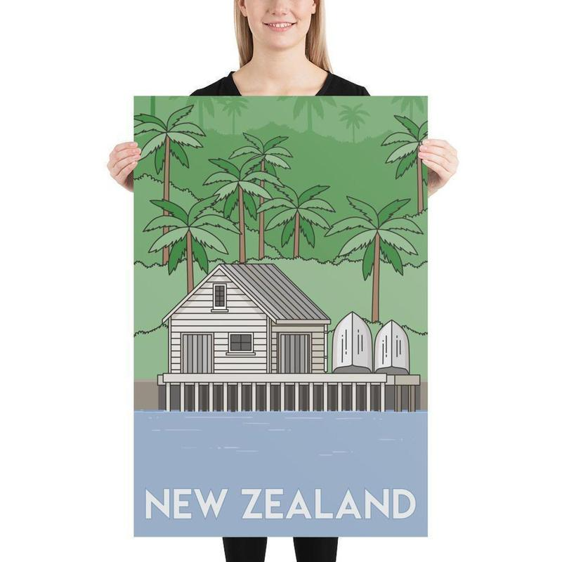 New Zealand Bach Poster-Posters-Flash of Culture™