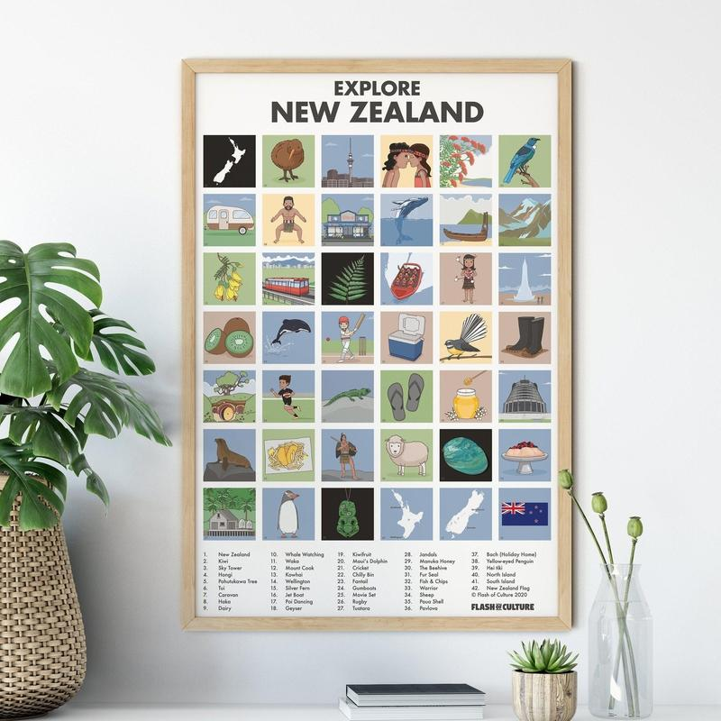 New Zealand Poster of Culture-Posters-Flash of Culture™