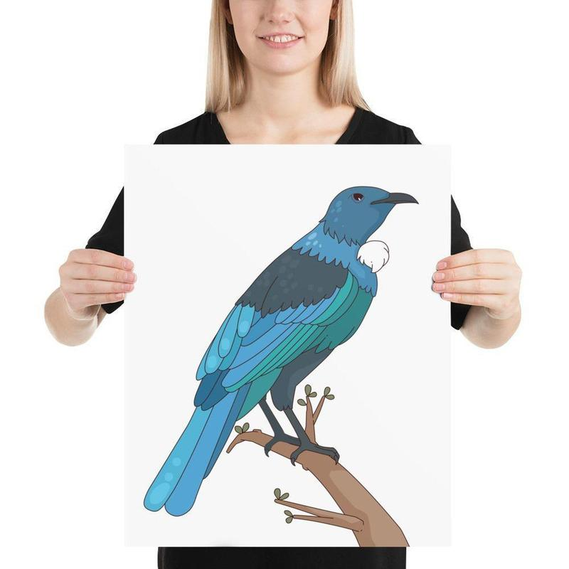 New Zealand Tui Bird Poster Art-Posters-Flash of Culture™