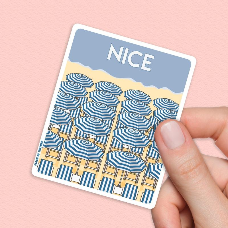 Nice France Travel Sticker - French stickers-Stickers-Flash of Culture™